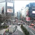 エクスペリアのカメラ機能が凄い! 渋谷駅から見た交差点が別の顔に!